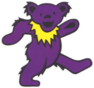 The purple Grateful Dead bear