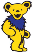 The yellow Grateful Dead bear