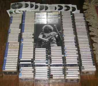 Mark Mcue's master Grateful Dead tapes. Photo taken by Alex Ford.