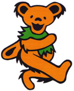 The orange Grateful Dead bear