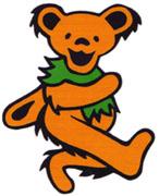 The orange Grateful Dead bear