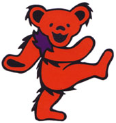 The red Grateful Dead bear