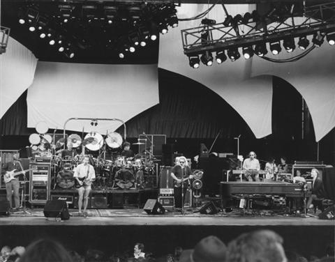 The band with Bruce Hornsby at Shoreline Amphitheater 8-17-91