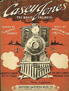Poster for the musical comedy Casey Jones.