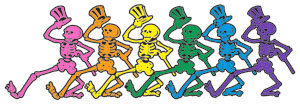 Dancing skeletons found in Grateful Dead art