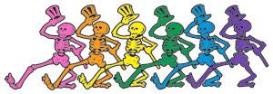 Dancing skeletons found in Grateful Dead art
