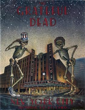 The Grateful Dead concert poster for the Radio City Music Hall shows.