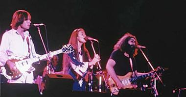 Close up shot of the band on stage in Egypt