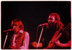 Bob weir and Jerry Garcia on stage in Egypt