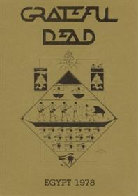 Program booklet cover art for Grateful Dead Egypt 1978 - Rocking The Cradle