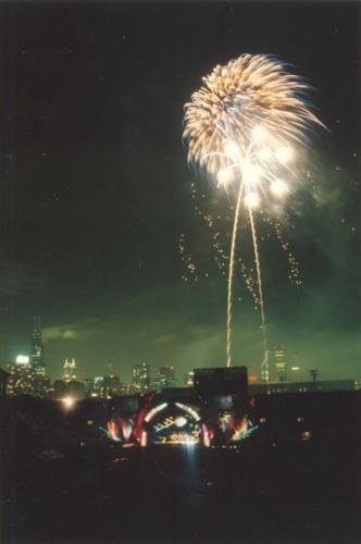 Grateful Dead Photos - Fireworks at Soldier's Field