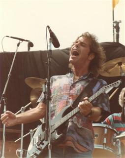 Bob Weir of the Grateful Dead on stage 7-14-85.
