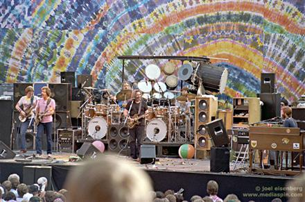 Grateful Dead on stage at the Greek Theater 5-23-82