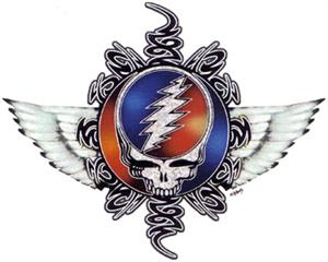 Grateful Dead steal your face with wings.