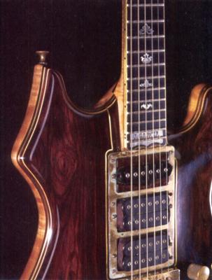 Jerry Garcia's tiger guitar made by Doug Irwin.