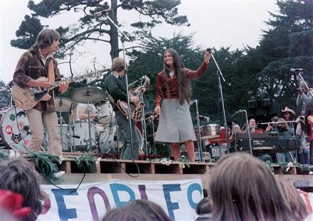 Grateful Dead performing at Golden Gate Park 9-28-75