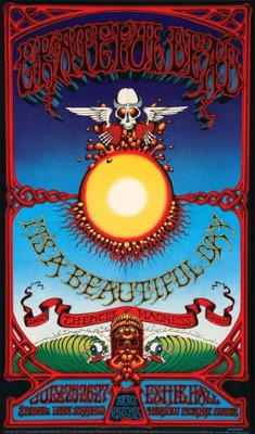Poster for Dead concert in Hawaii by Rick Griffin.