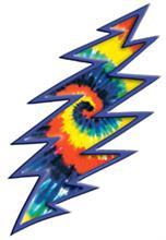 tie dye lightning bolt