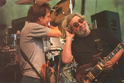 Bob Weir and Jerry Garcia in Town Park, Telluride, CO