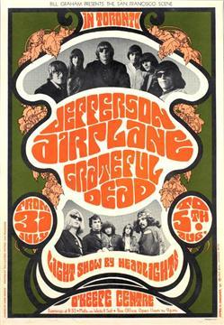 Grateful Dead concert poster for the 0'Keefe Center 7-31-67 by James Gardner