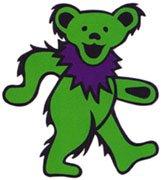 The green Grateful Dead bear