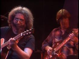 Jerry and Phil onstage.