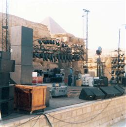 The stage being set up for the GD in Egypt