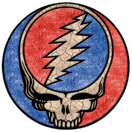 Grateful Dead steal your face with marble texture