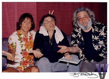Photo of Bob Weir, Bill Graham and Jerry Garcia by Jay Blakesberg from Wolfgang's Vault