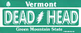 vermont grateful dead license plate sticker