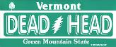 vermont grateful dead license plate sticker