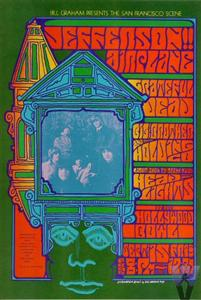 Grateful Dead concert poster for the Hollywood Bowl 9-15-67 by Jim Blashfield
