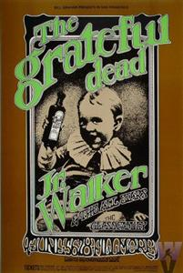 A Grateful Dead concert poster for the Fillmore 6-5-69 by Randy Tuten.